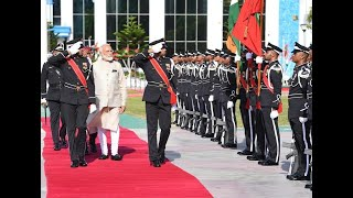 PM Modi receives Maldivian guard of honour on 1st foreign trip after poll win
