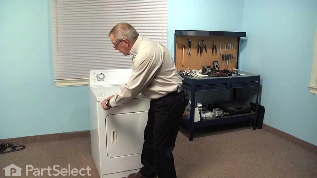 Replacing your Kenmore Dryer Drum Roller Shaft - Left Side