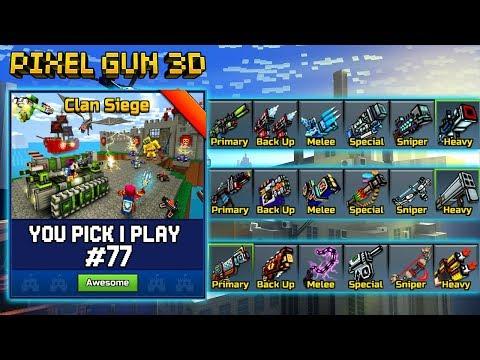 You Pick,I Play! #77 - Clan Siege Battle - Pixel Gun 3D