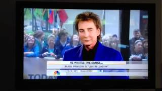 Barry Manilow on the Today Show