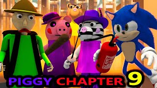 PIGGY CHAPTER 9 vs BALDI & SONIC! ROBLOX SPEEDRUNNER CHALLENGE! BOOK CITY horror Minecraft Animation