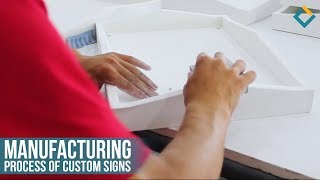Manufacturing process of custom signs