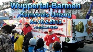 preview picture of video 'Karneval Umzug Wuppertal Barmen So.10.2.2013 TVAlpino21NRW Full HD Video'