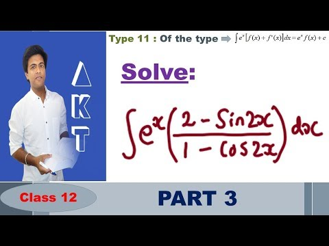 Integration Type 11 : Of the type ∫e^x  [f(x)+f^' (x)]dx= e^x  f(x)+c : Part 3