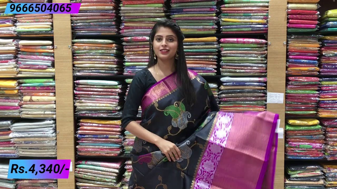 """<p style=""""color: red"""">Video : </p>Pure Banaras Sarees Collections 