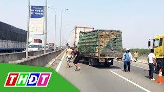 Xe tải tông đuôi container trên cao tốc, 2 người tử vong | THDT