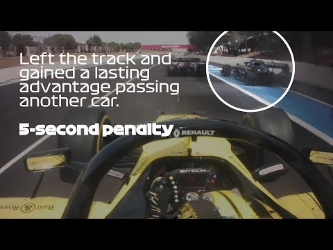 Why Ricciardo Received Two Penalties | 2019 French Grand Prix