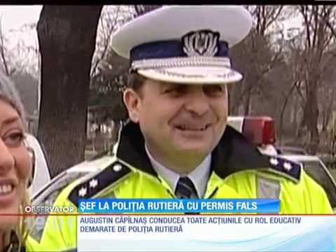 Un şef din Poliţia Rutieră a fost prins cu permis fals!