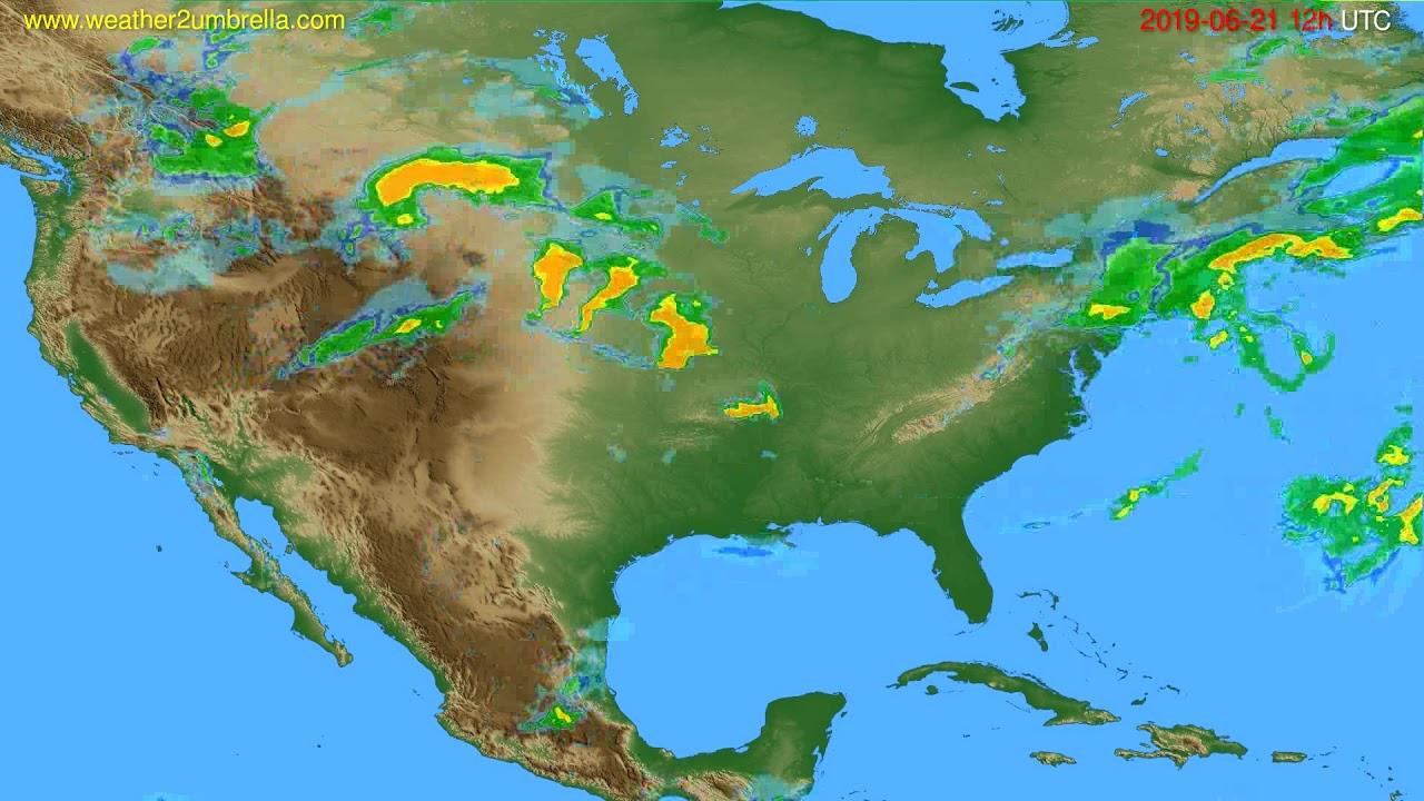 Radar forecast USA & Canada // modelrun: 00h UTC 2019-06-21