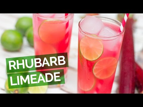 Video Rhubarb Limeade Recipe