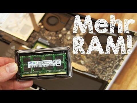 Arbeitsspeicher Apple MacBook Pro aufrüsten (RAM selbst einbauen und erweitern), Anleitung Deutsch