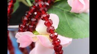 Бусины Стекло Рондели 8мм цв. Сиам / Siam