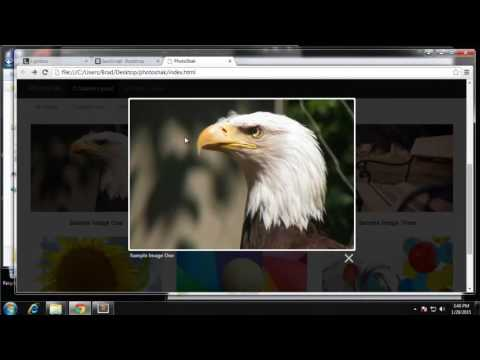 Build a Photo Gallery UI using Bootstrap - Part 5