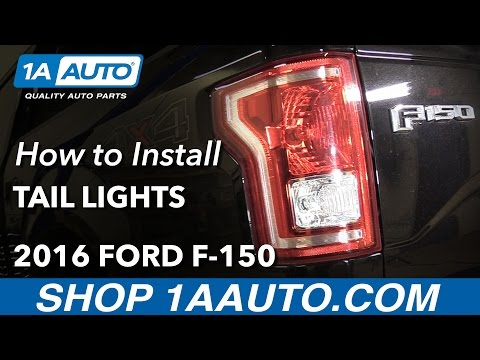 How to Replace Tail Lights and Bulbs 15-16 Ford F-150