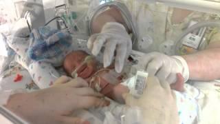 27 week preemie crying like a kitten