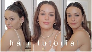 FLIPPED-ENDS HAIR TUTORIAL   3 STYLES   90s inspired