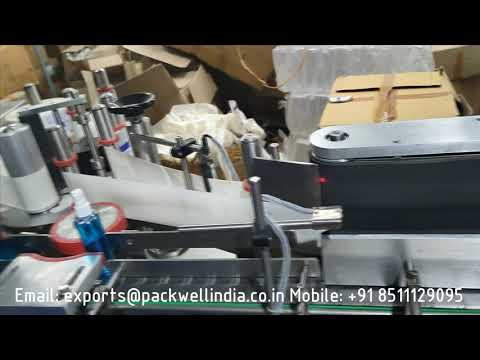 Automatic high speed sanitizer bottle labeling machine