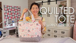 How To Make A Reversible Quilted Shopper Tote Bag With Minki Kim | Fat Quarter Shop