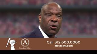 Promo for Chicago Injury law firm, Ankin Law Office LLC with Chicago Cub legend, Andre Dawson and Howard Ankin