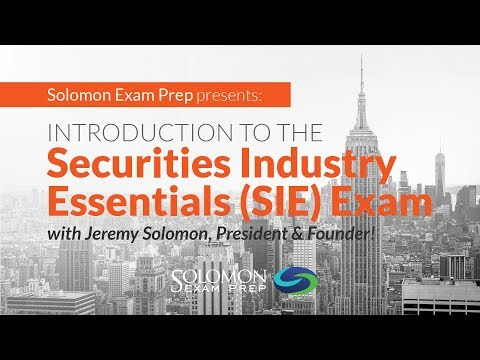 Introduction to the Securities Industry Essentials (SIE) Exam - YouTube