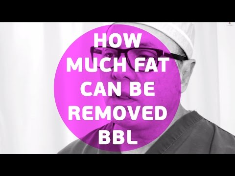 How much fat can be removed BBL - Brazilian Butt Lift