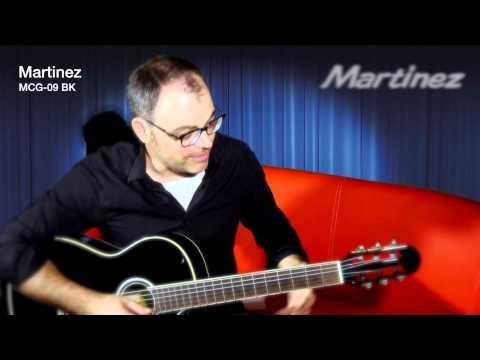 Martinez MCG 09 BK Elektroakustische Konzertgitarre