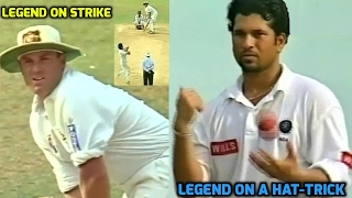 Sachin Tendulkar On a Hat-trick vs Australia, Shane Warne on Strike | WHAT HAPPENS NEXT...MUST WATCH