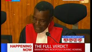 CJ Maraga reads final verdict to the Supreme Court petition