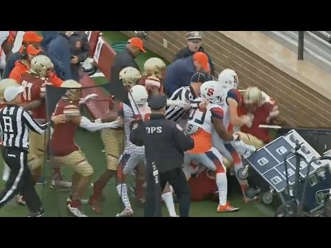Fight Breaks Out Between Syracuse And Boston College   CampusInsiders