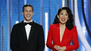 Golden Globes 2019: Highlights From Sandra Oh and Andy Samberg's Hilarious Opening