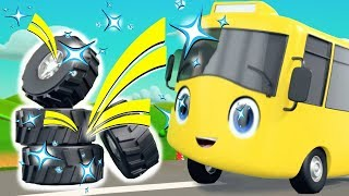 Buster New Tyres - Go Buster | BRAND NEW! | Baby Songs | Cartoons For Kids | Little Baby Bum