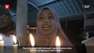 University students hold candlelight vigil during TN50 launch