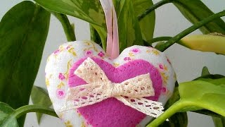 How To Make A Pretty Fabric And Felt Heart - DIY Crafts Tutorial - Guidecentral