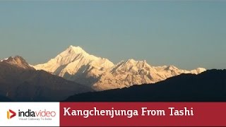 A spectacular view of Kangchenjunga from Tashi View point