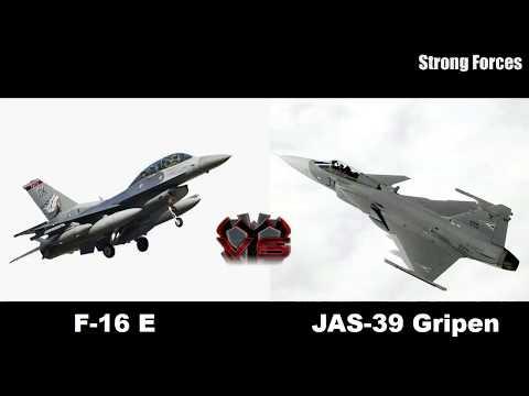 F-16 E Fighting Falcon VS JAS-39 Gripen - смотреть онлайн на