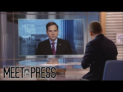 Sen. Marco Rubio: On McCabe, 'I Don't Like The Way It Happened' (Full) | Meet The Press | NBC News