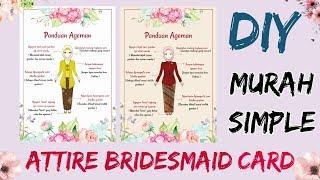 DIY Card/Kartu Bridesmaid ( Attire Bridesmaid ) Murah & Simpel - By Angky Ayoeni