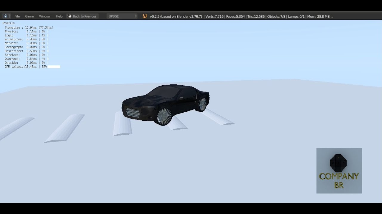 Game Engine Vehicle Component Tutorial.pt2 - Controller (Legendado)#UPBGE