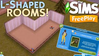 The Sims FreePlay: L-Shaped Rooms Quest - Walkthrough + Tutorial | How to unlock 🔐 L-Shaped Rooms