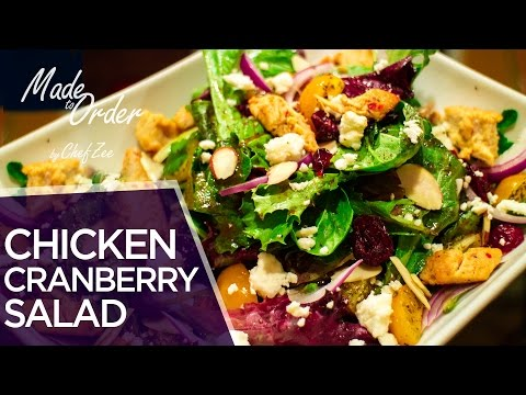 Cranberry Chicken Salad | Healthy Recipes | Made To Order | Chef Zee Cooks