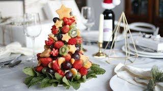 DIY CHRISTMAS FRUIT TREE   HOW TO MAKE EDIBLE FRUIT ARRANGEMENT