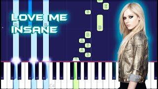 Avril Lavigne - Love Me Insane Piano Tutorial EASY (Piano Cover)