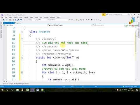 VD31 - Mảng trong C# - Bài tập