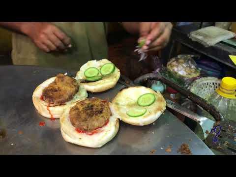 Bun Kabab    street food of karachi, pakistan 🇵🇰
