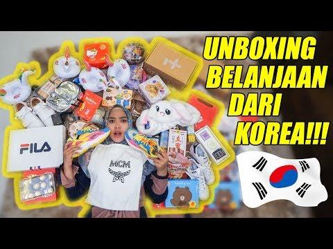 UNBOXING RATUSAN BELANJAAN ASLI KOREA!!! Shopping Haul 2019! RUSUH🇰🇷 part 1