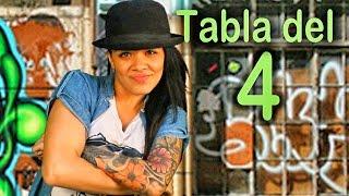 Canción de la tabla del 4 - Las Tablas de Multiplicar al Estilo Urbano - Videos Educativos #