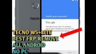 NEW TECNO W2 FRP BYPASS NO PC - Most Popular Videos