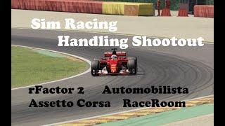 Handling Comparison - rFactor 2 / Automobilista / Assetto Corsa / RaceRoom Racing Experience