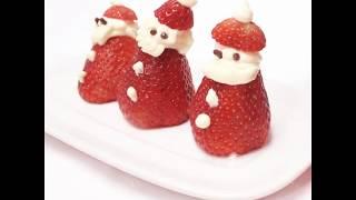 วิธีทำ ซานต้า สตอเบอร์รี่  ตอนรับวันคริสมาสต์