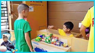 น้องบีมลูกแม่บี | ร้านสะดวกซื้อกล่องกระดาษ ขายขนม ของเล่น คลิปเต็ม
